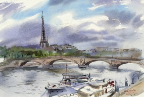 Paris. 2017 56х38см, Fabriano Artistico, watercolor